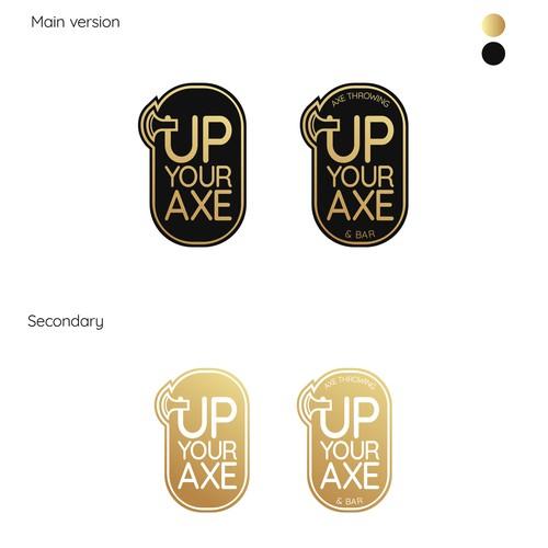 Logo design for Axe throwing bar