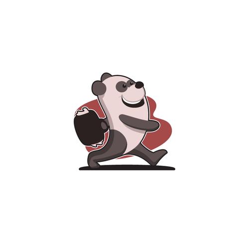 Panda in hurry