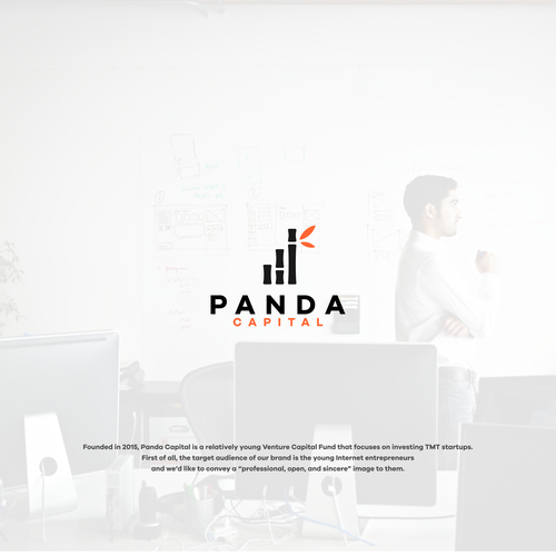 Logo Panda capital Concept