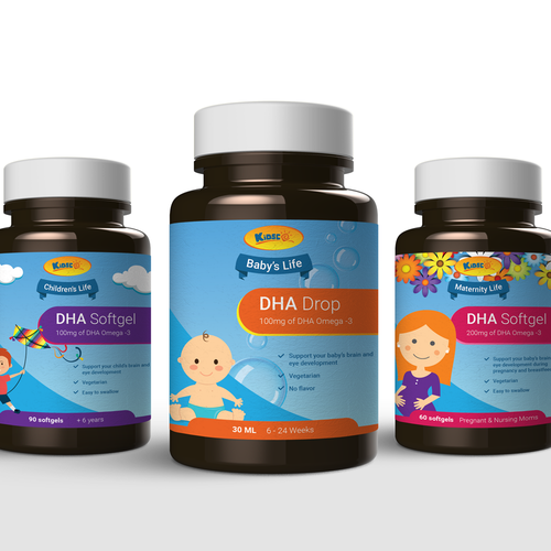 Supplement packaging for children