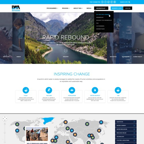 Be the visionary to redesign an international organization's website