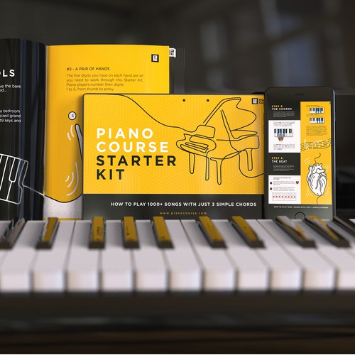 Render of piano course starter kit
