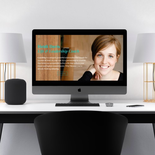 Personable Website Built for Beautiful Life Coach