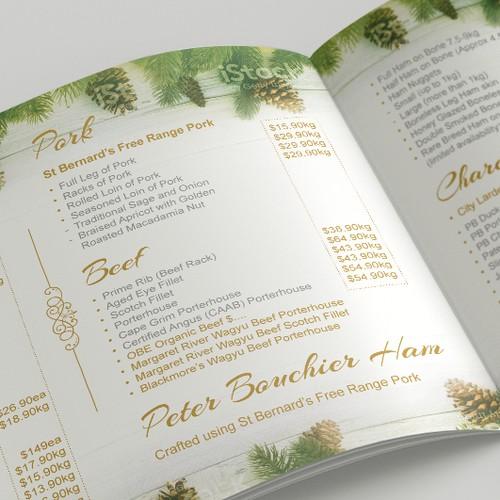 Christmas Brochure for Retail Butcher