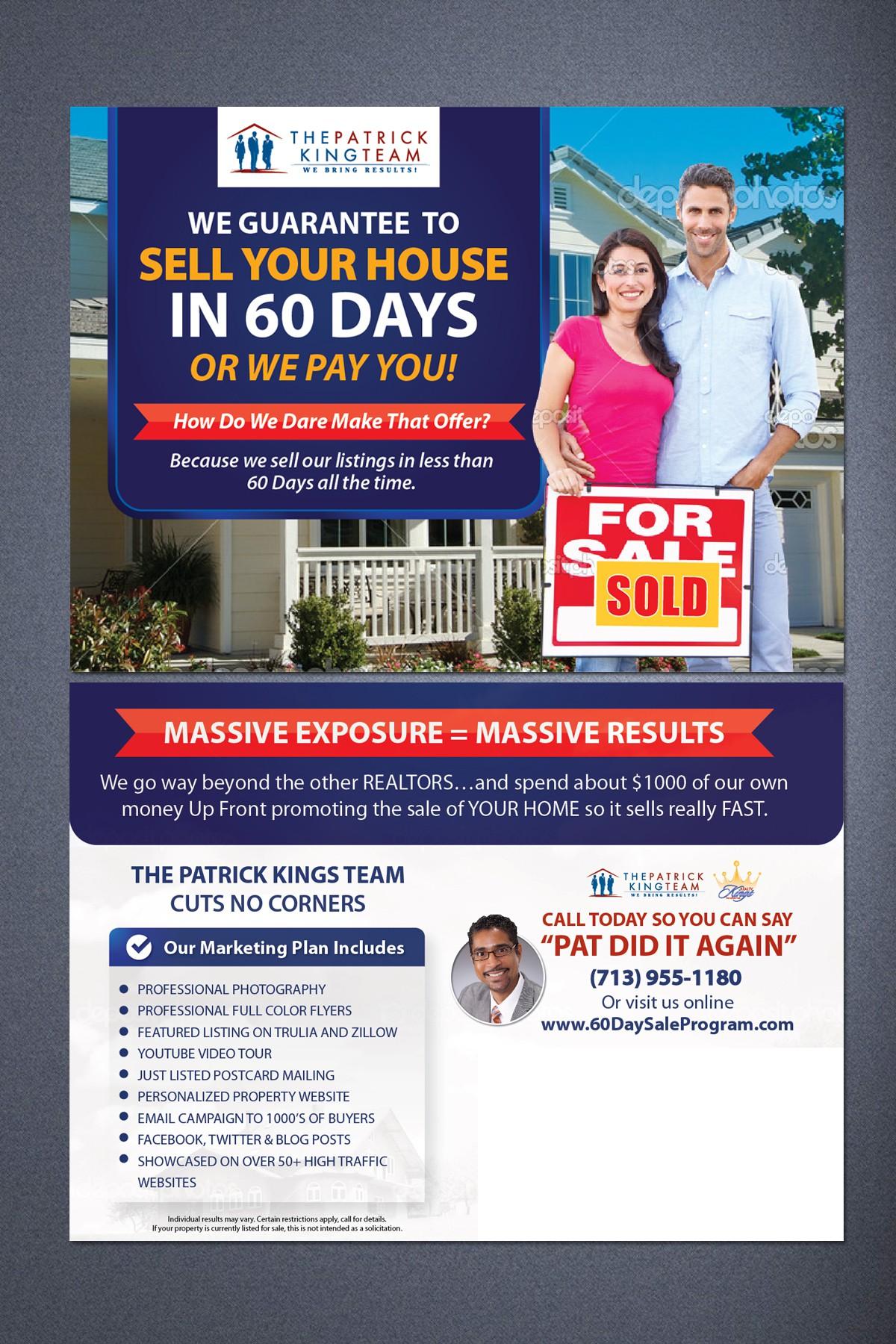 Need Dynamic Real Estate Postcard Designed