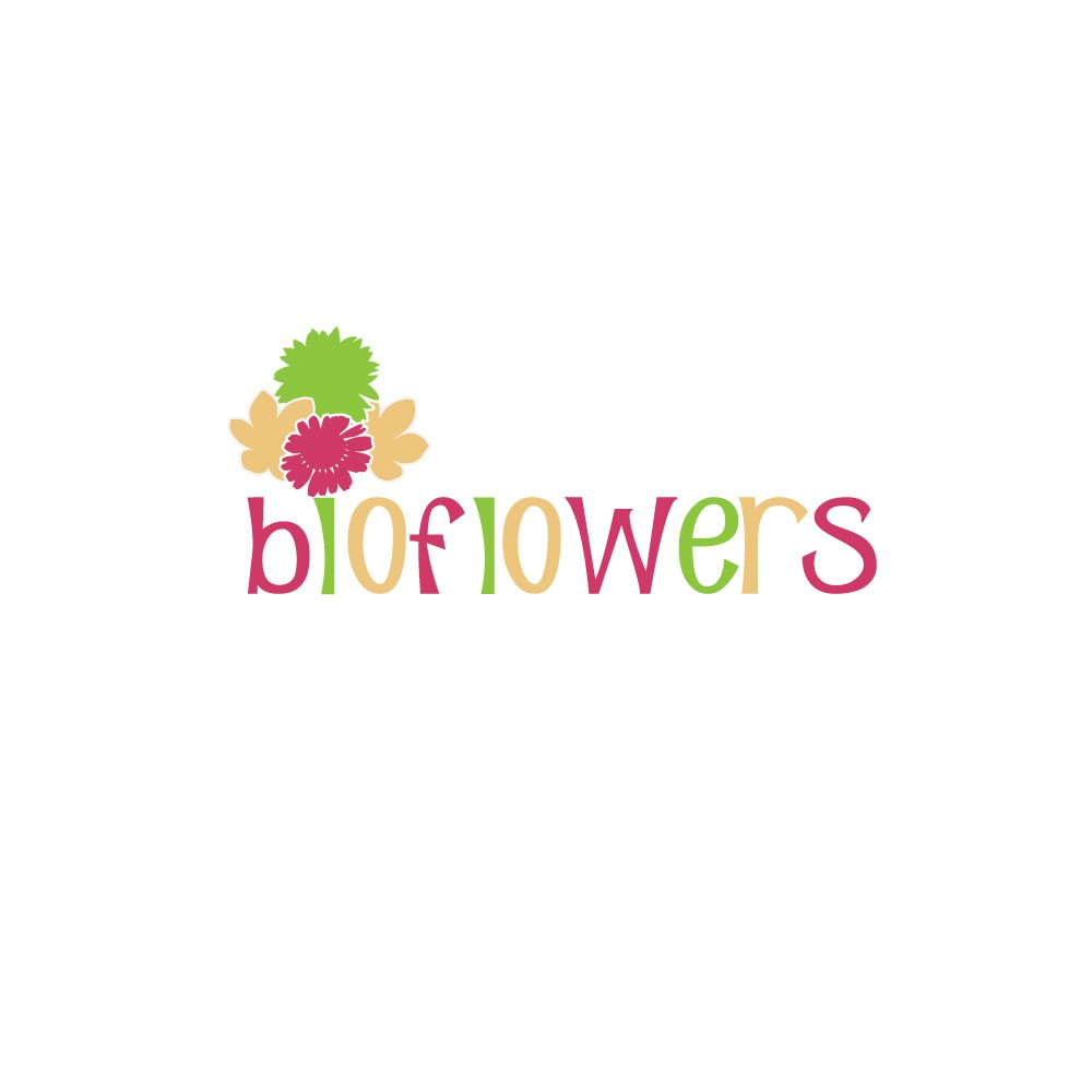 Create logo for Bioflowers, flower displays made from 100% recyclable materials