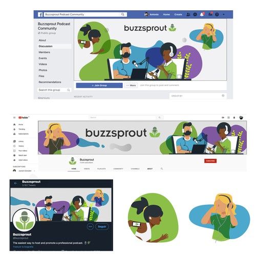 Winner entry for a series of social network banners