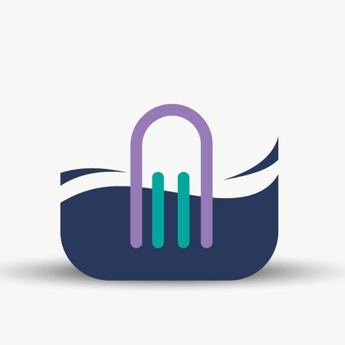 Create a nautical app icon design for sonar