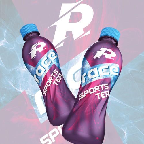 Sports Drink Design on a PET Bottle