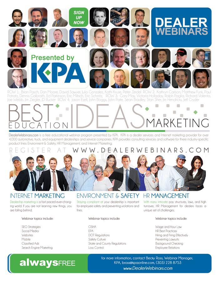 Create flyer to promote www.DealerWebinars.com