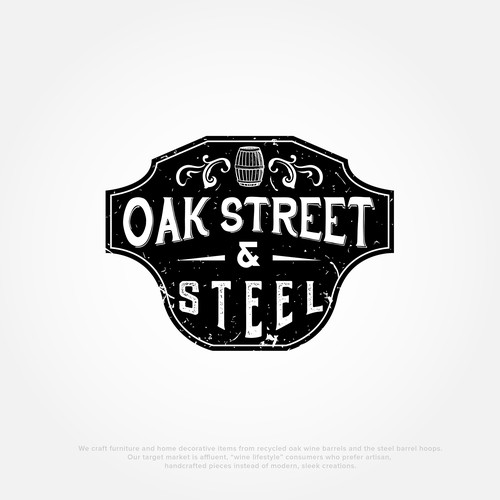 Logo concept for OAK STREET & STEEL