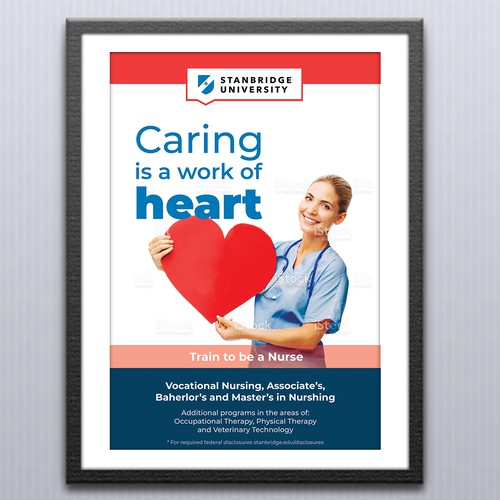 Mall Ad design for healthcare course at university