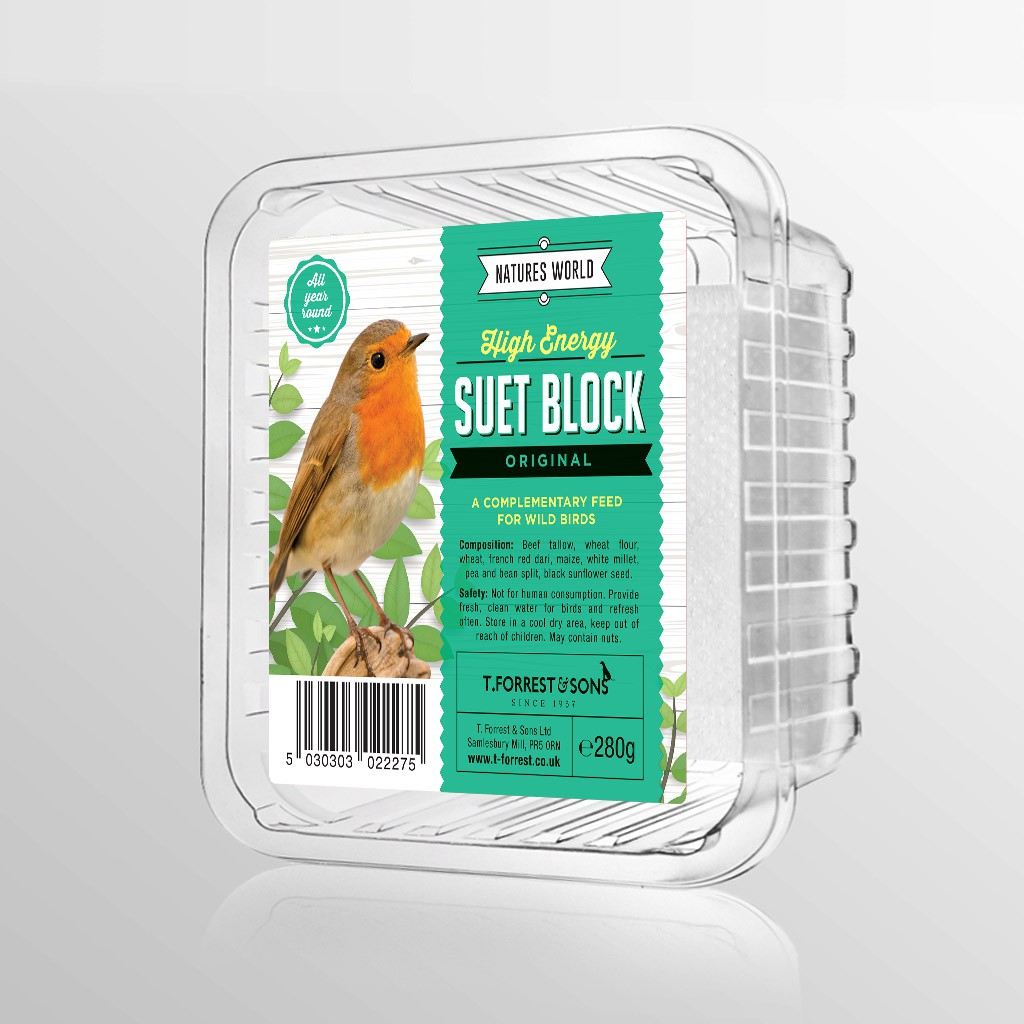 2 labels for a new brand of bird treats - BRAND NAME: NATURES WORLD