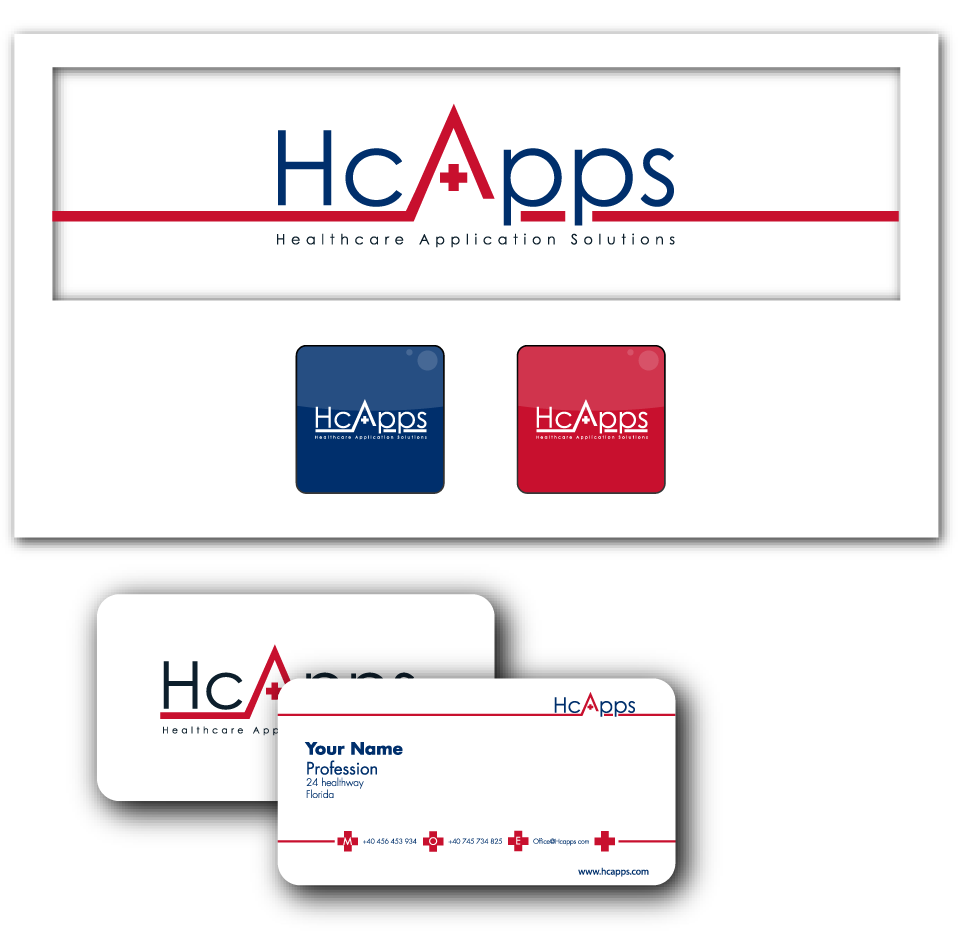 Logo for Healthcare Application Solutions or HcApps