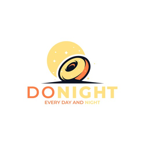Minimalist logo concept for a donut shop