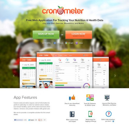 New website design wanted for cronometer.com