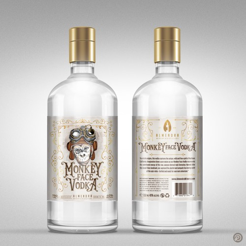 Winning Vodka label design