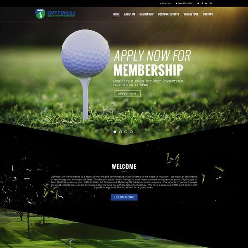 Wp design concept for Golf Traning Website