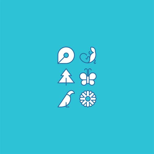 unique icons shape for a nature app