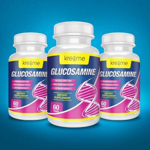 Glucosamine Supplement Label