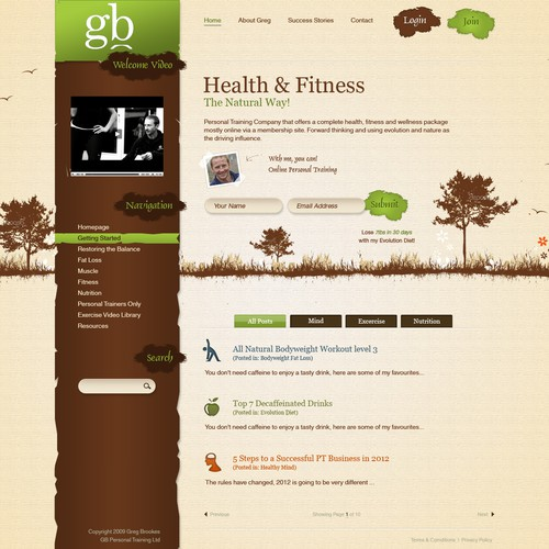 Website Design for Natural, Living and Breathing