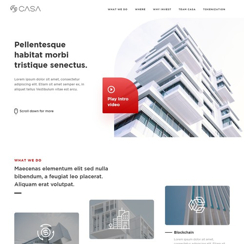Web design for a innovative real-estate company
