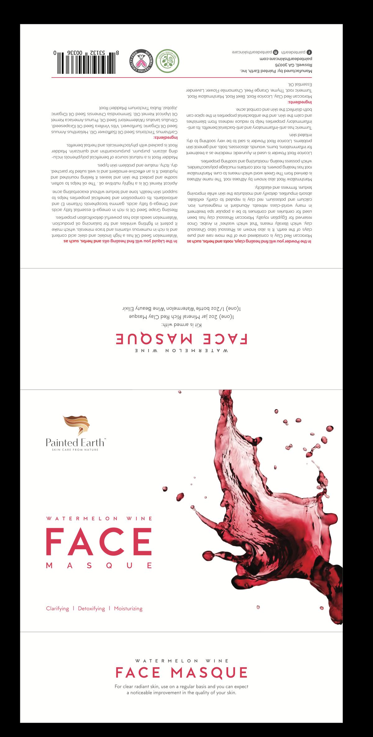 Watermelon Wine  Clarifying, Detoxing and Moisturizing Masque