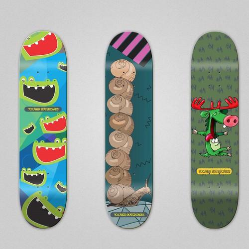 Fresh & Hip Skateboard Design
