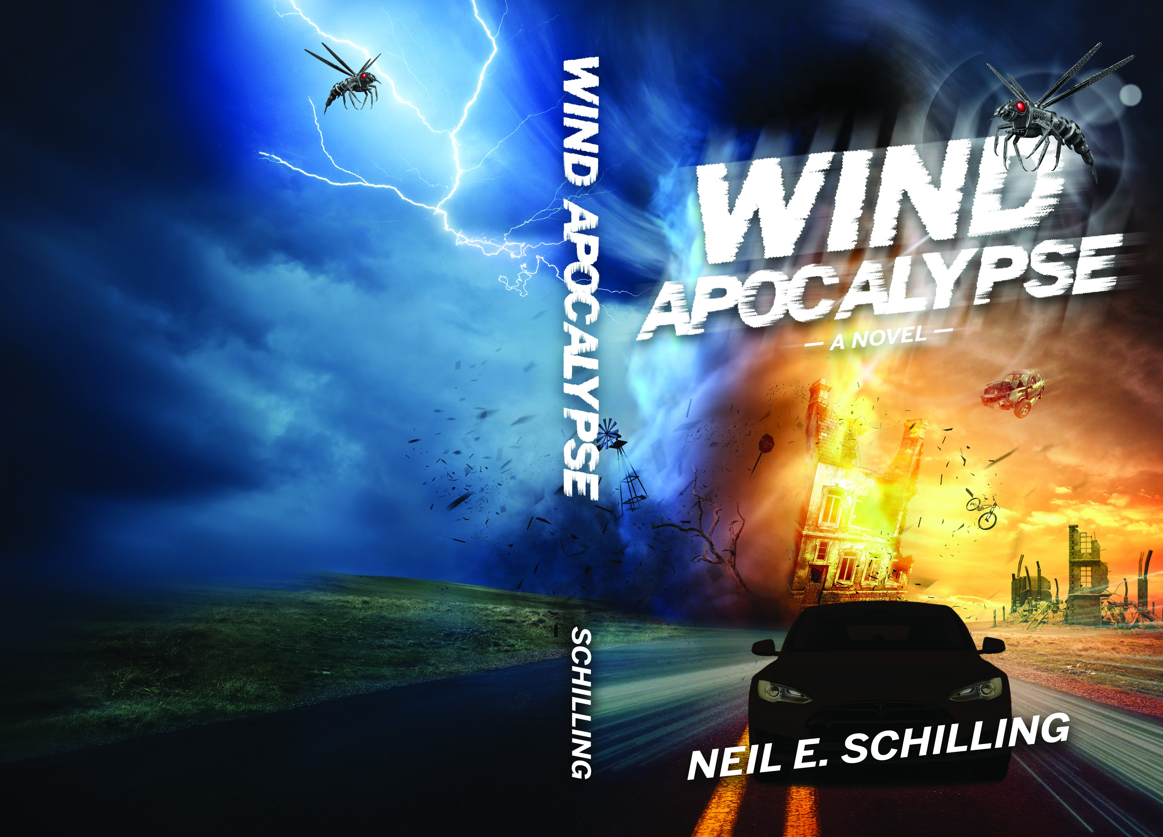 Wind Apocalypse--A tornado, a road, a speeding car, a wasp. Easy!