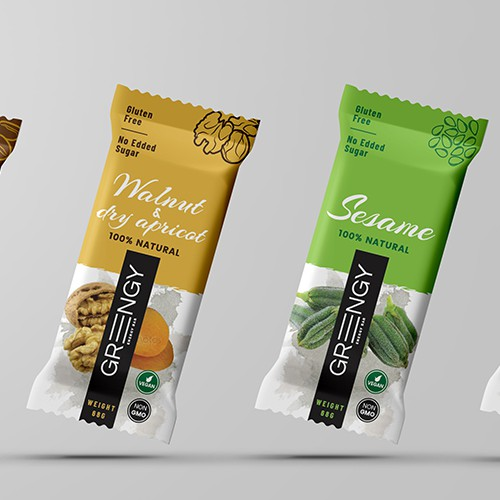 Create powerful package design for Greengy Bar