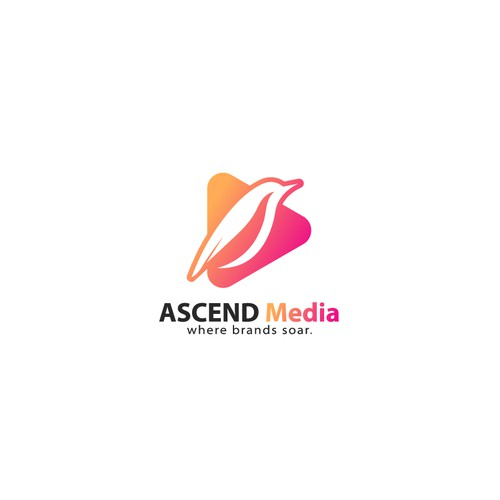 Bold Clever logo for ASCEND MEDIA