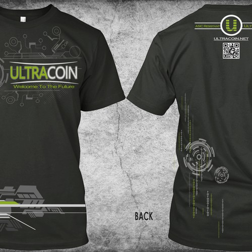 Create an eye-catching shirt to represent the digital currency Ultracoin!