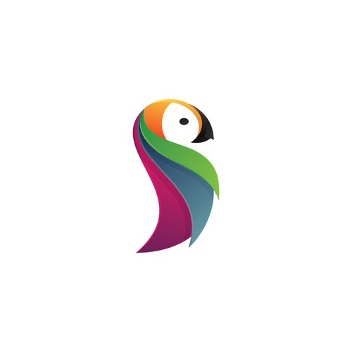 Create an EXOTIC, ABSTRACT Parrot logo for App