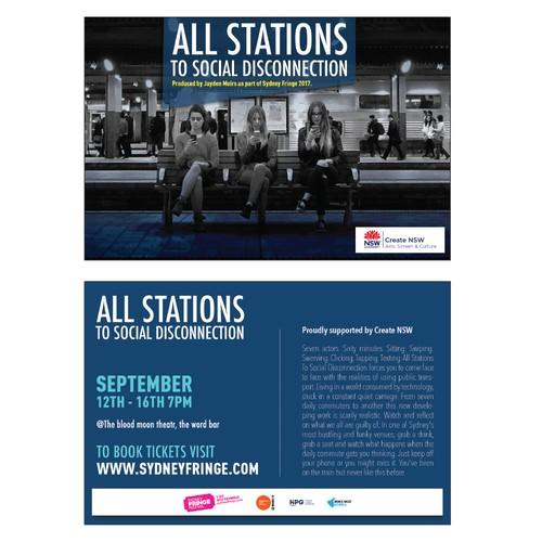 Design a theatre show flyer