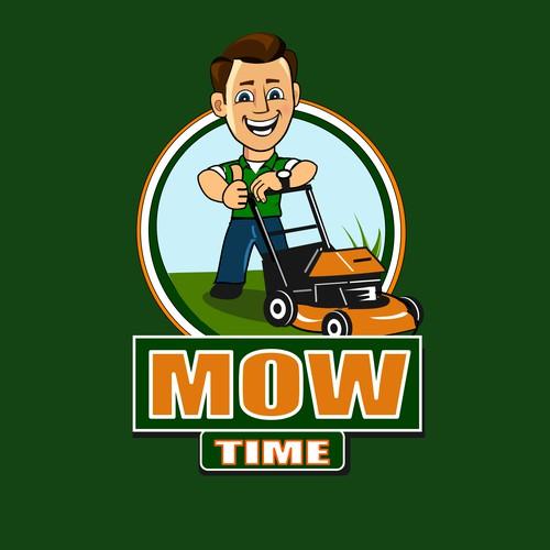 Logo design for Mow time