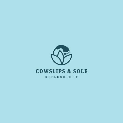 Cowlips and Sole Feflexology logo concept