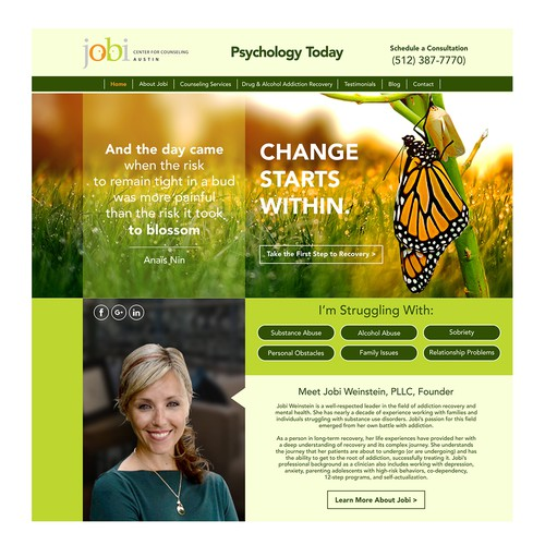 Jobi web site Landing Page