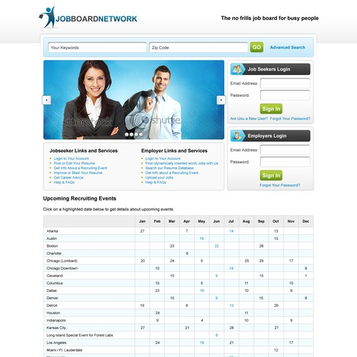 Need a New Website Design for Job Search Company