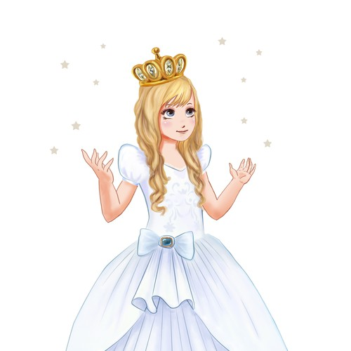 """Princess """"Anneliese"""" - character for a matress"""