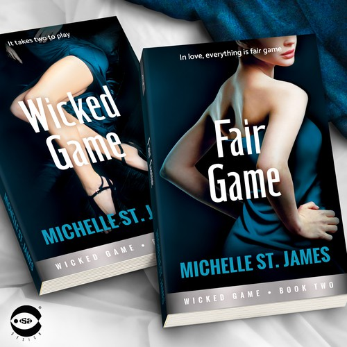 "Book covers for ""Wicked Game Series"" (Books 1 and 2) by Michelle St. James"
