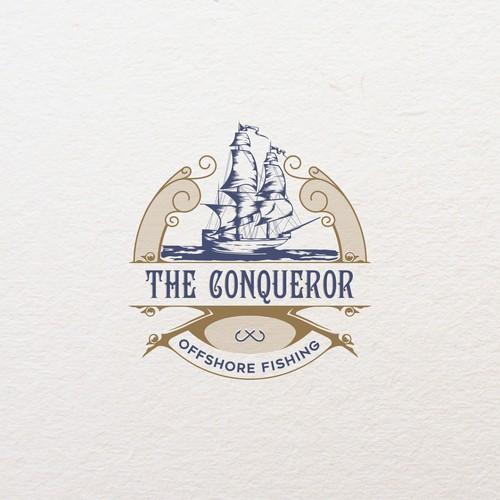 the qonqueror offshore fishing logo