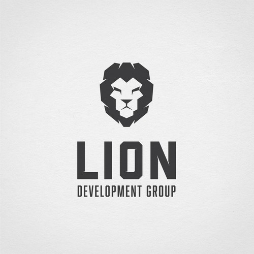 Strong lion logo for real estate developers