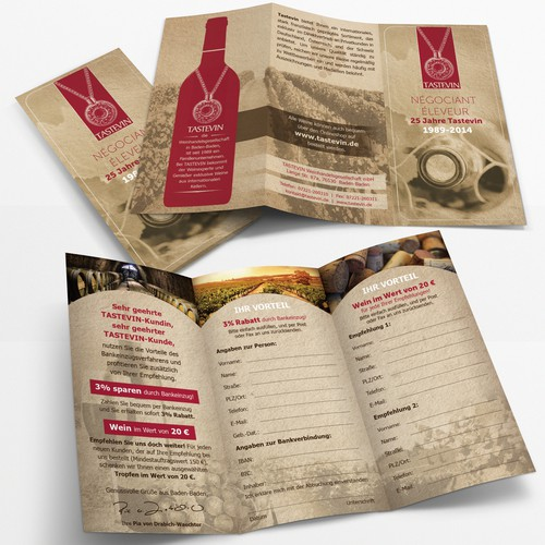 Tastevin wine-trade company needs brochure design