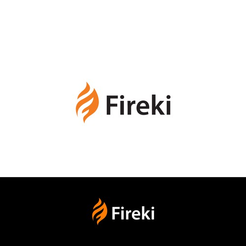 Minimalist and right to the point logo for fireki