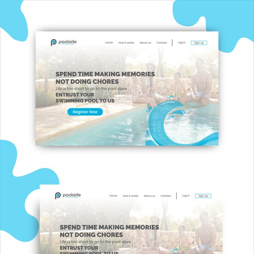 landing page concept for poolsidesolutions.com