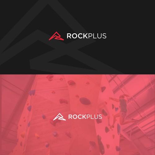 simple logo for rockplus