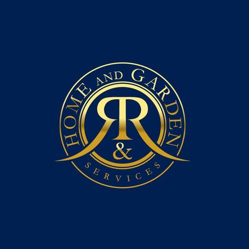 R&R Home And Garden Service logo design