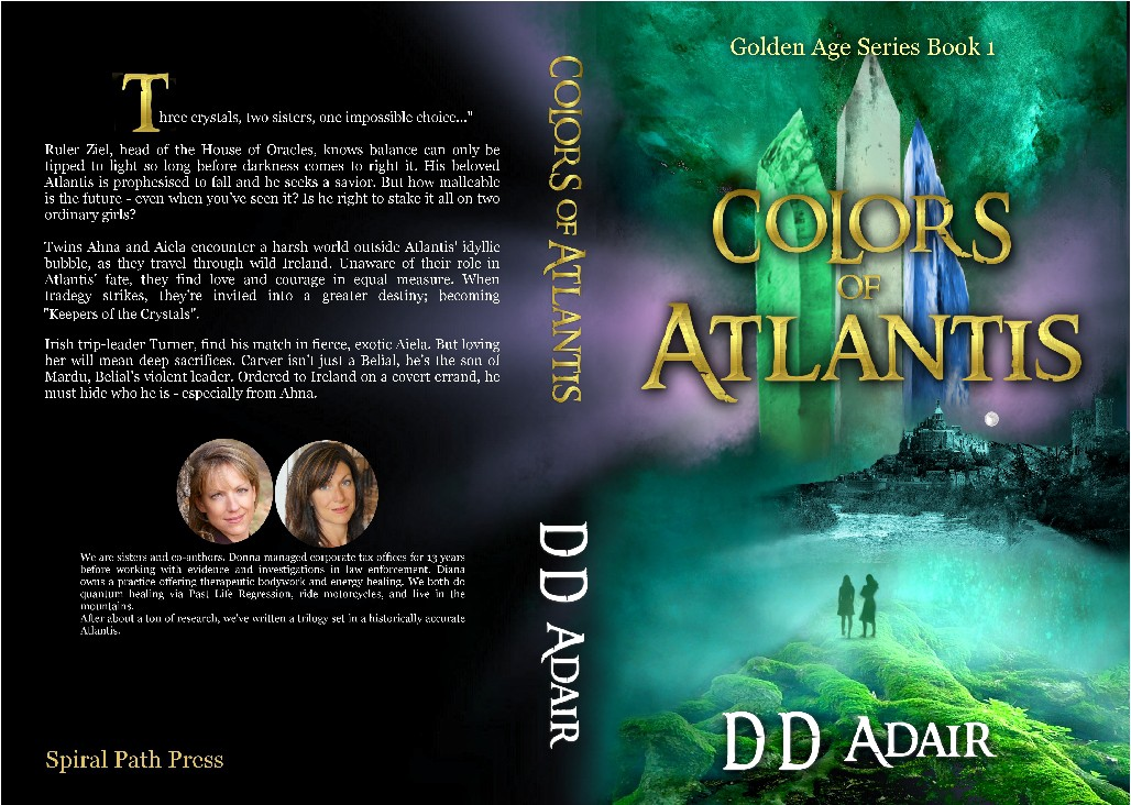 Create a book cover for an epic tale set in Atlantis