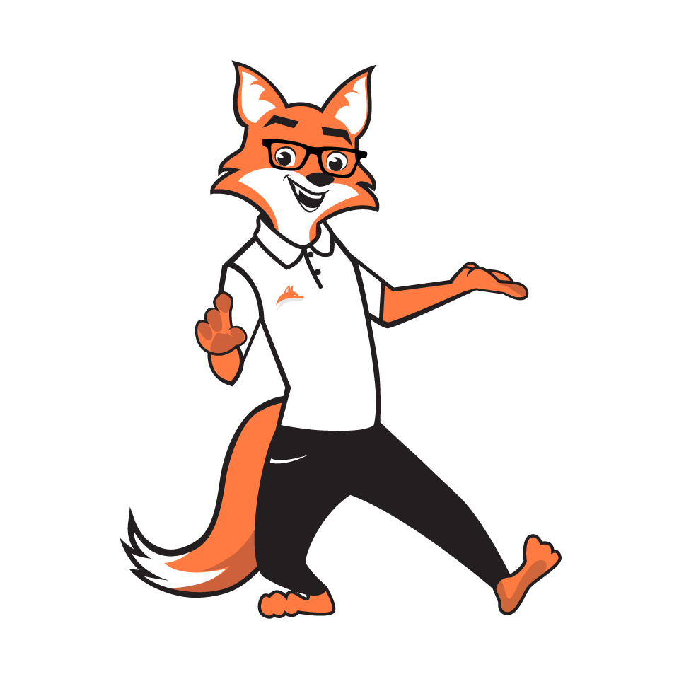 Illustration of clothes for business fox Sly