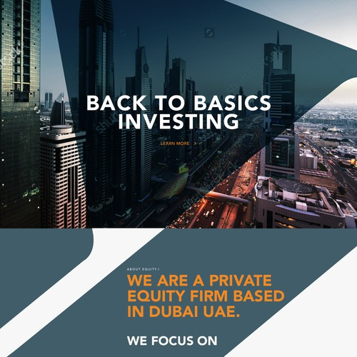 Bold website design for a private equity firm
